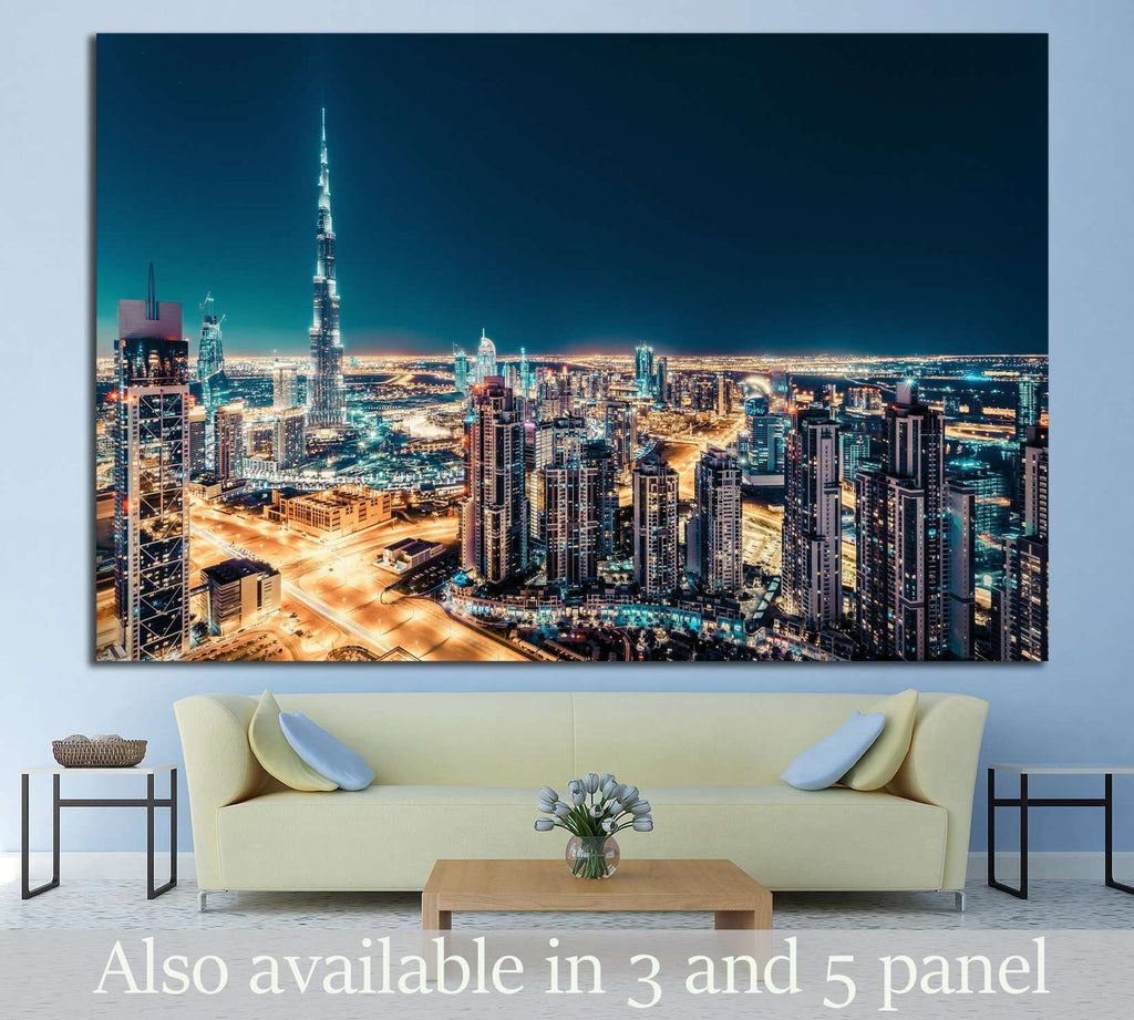 View of downtown Dubai, UAE №1270 Ready to Hang Canvas Print