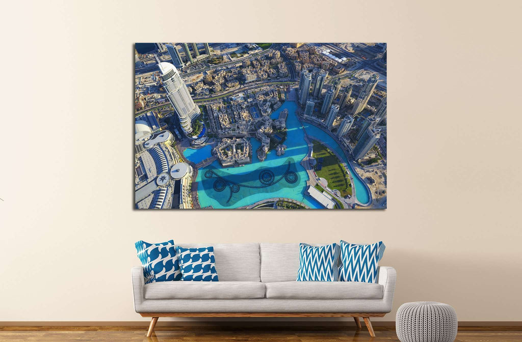 View of Dubai city from the top of a tower №1146 Ready to Hang Canvas Print