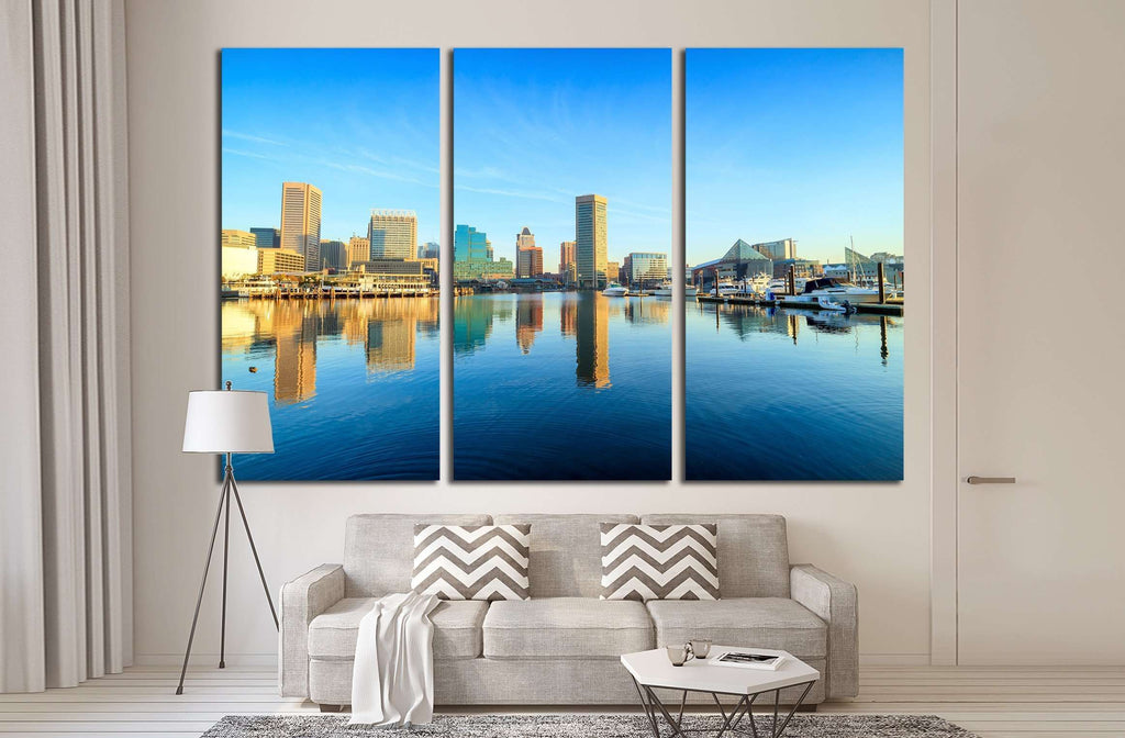 View of Inner Harbor area in downtown Baltimore Maryland USA №2186 Ready to Hang Canvas Print