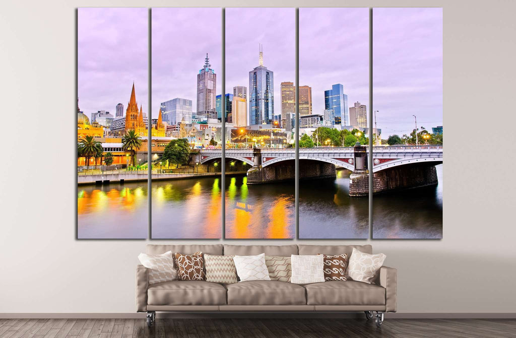 View of Melbourne №804 Ready to Hang Canvas Print