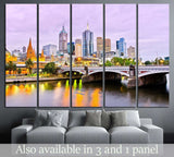 View of Melbourne skyline №800 Ready to Hang Canvas Print