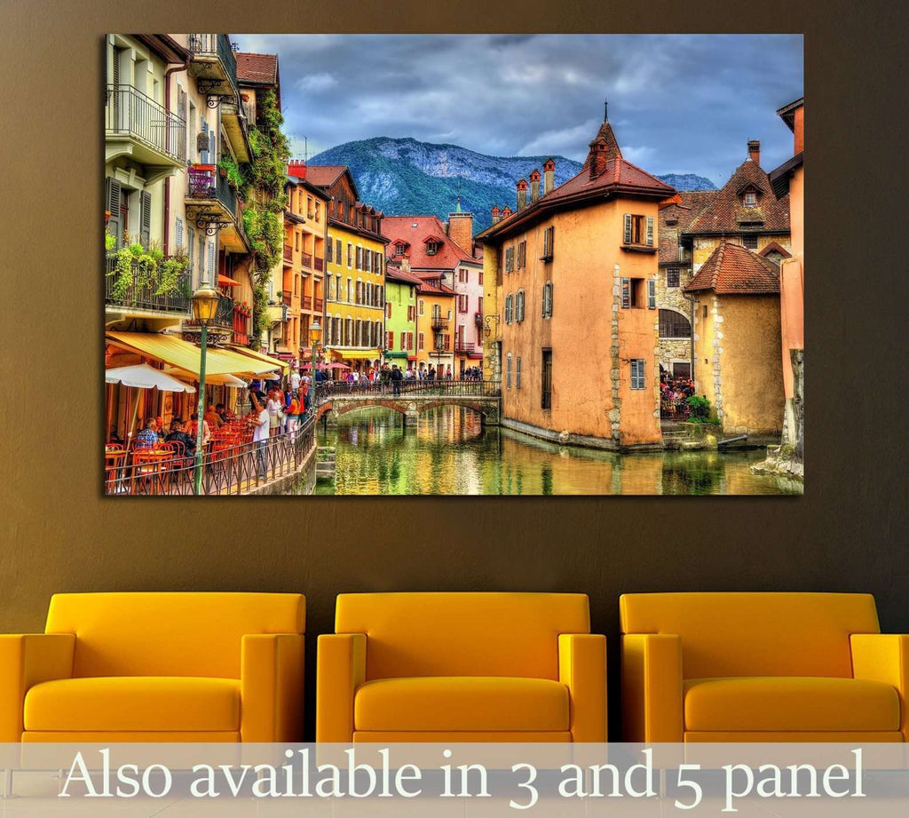 View of the old town of Annecy - France №1708 Ready to Hang Canvas Print