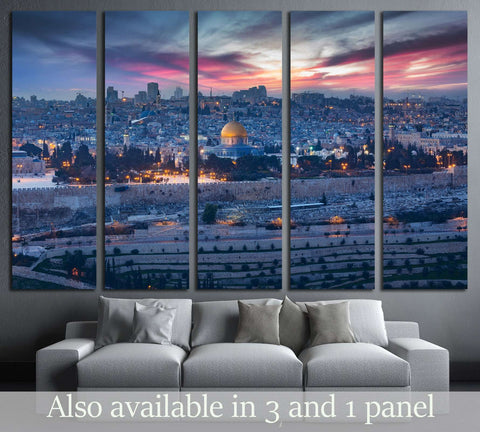 View to Jerusalem old city. Israel №3037 Ready to Hang Canvas Print