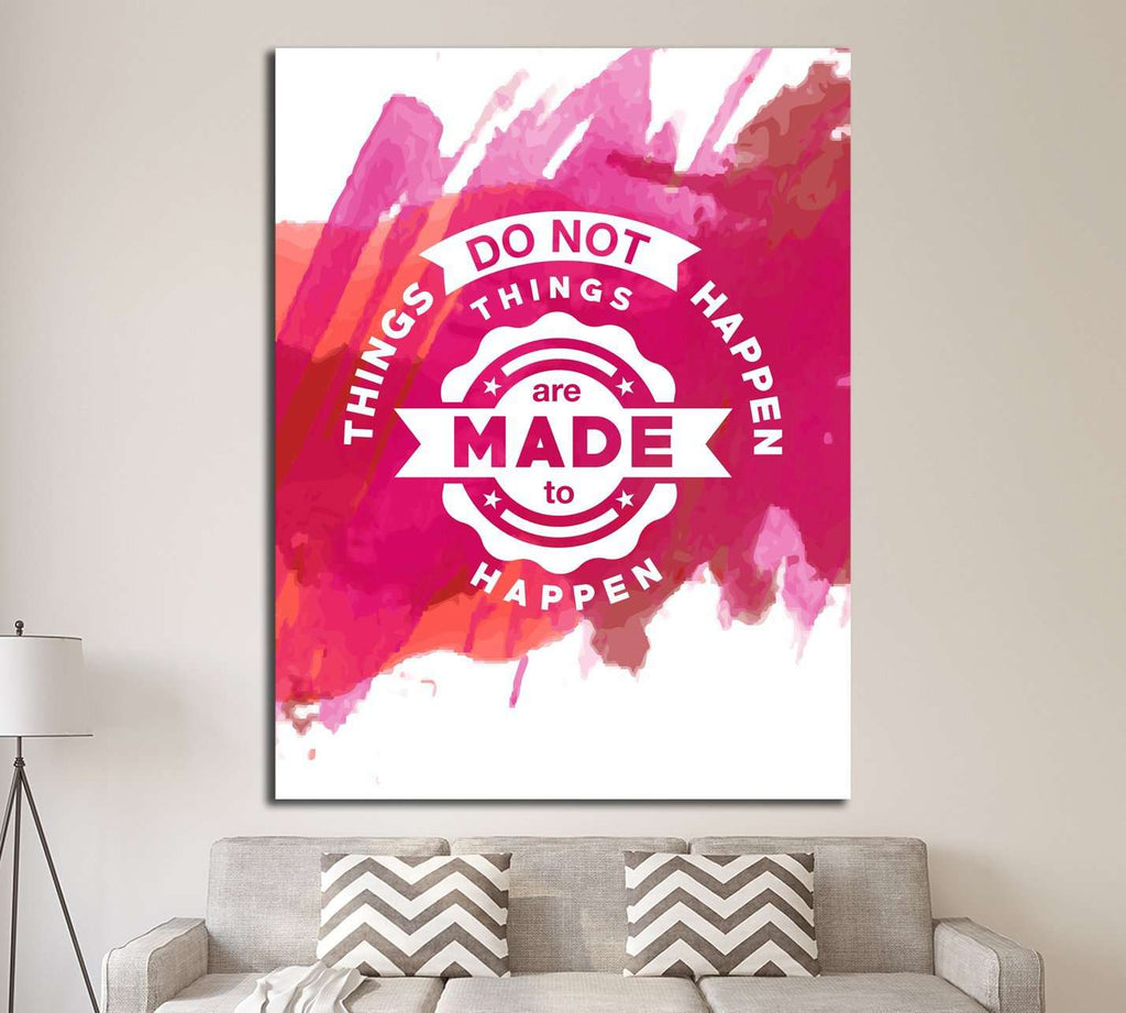 Vintage canvas with motivation quote on red pink abstract watercolor background ?4560 Ready to Hang  sc 1 st  Zellart & Vintage canvas with motivation quote on red pink abstract watercolor ...