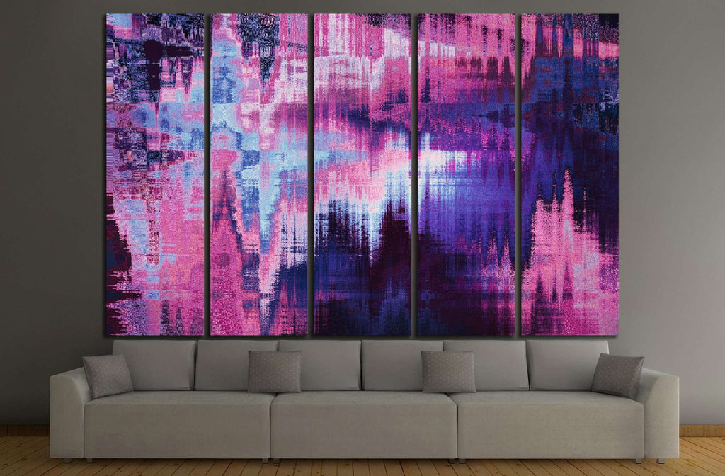 violet blurred abstract background №1424 Ready to Hang Canvas Print