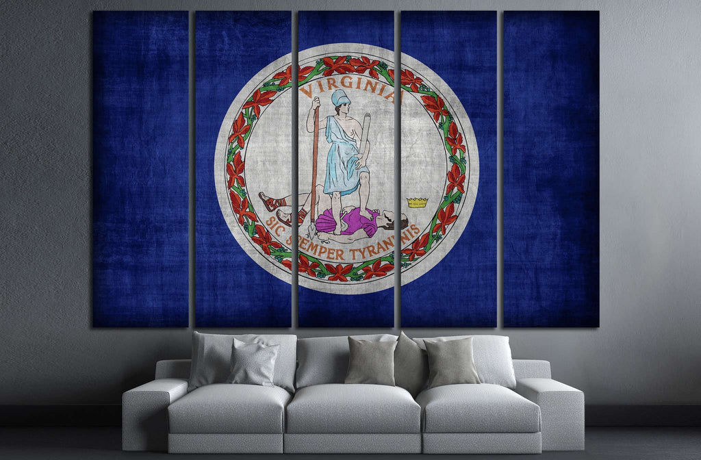 Virginia flag №694 Ready to Hang Canvas Print