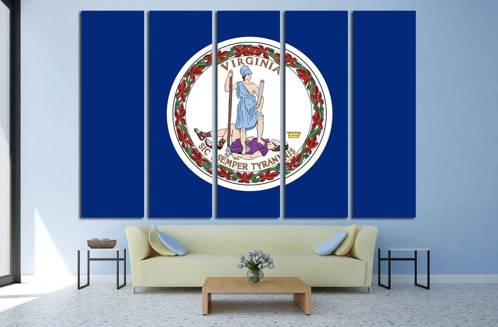 Virginia Flag №695 Ready to Hang Canvas Print