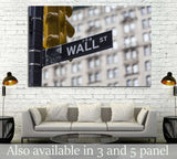 Wall street sign in New York №1788 Ready to Hang Canvas Print