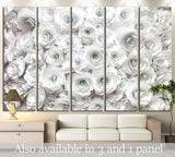 wall with paper flowers №1353 Ready to Hang Canvas Print