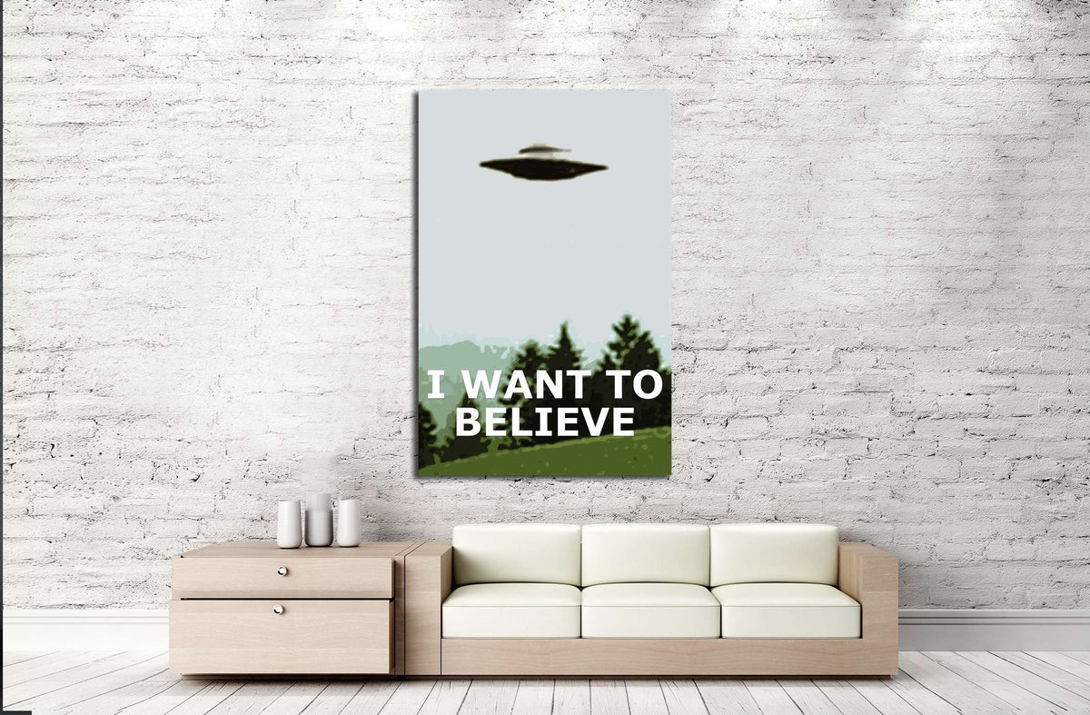 Want To Believe X Files Poster Eugenia Loli 3393 Ready To Hang