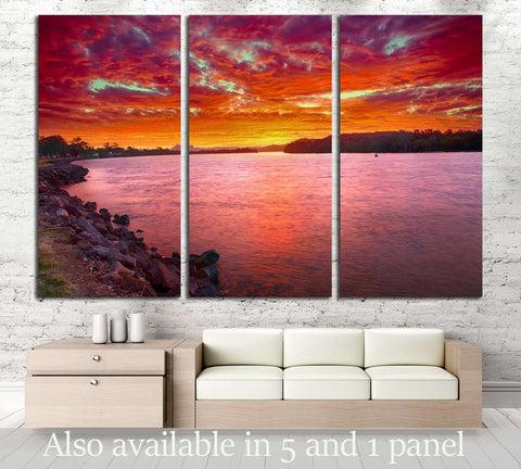 Warning visible on horizon, New South Wales - Australia. №2862 Ready to Hang Canvas Print