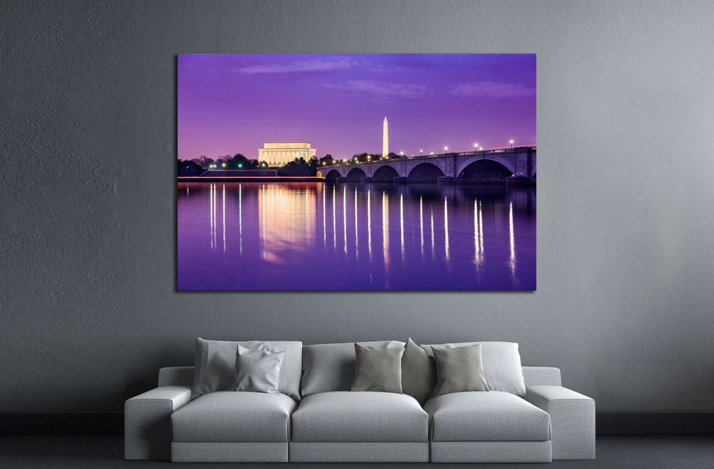 Washington DC skyline on the Potomac №1361 Ready to Hang Canvas Print