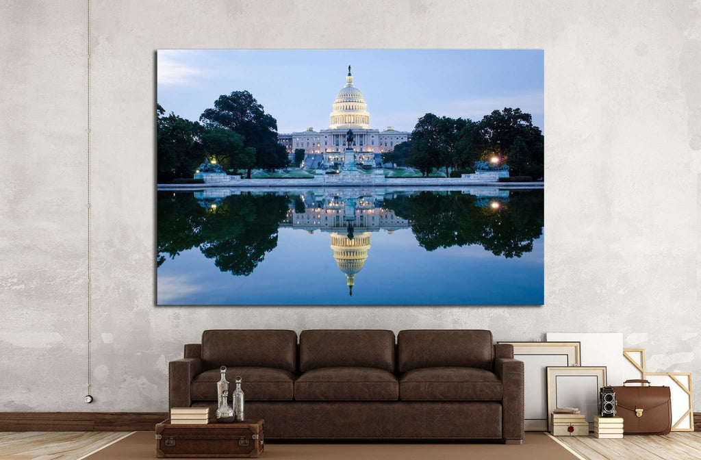 Washington DC, US Capitol Building №1357 Ready to Hang Canvas Print