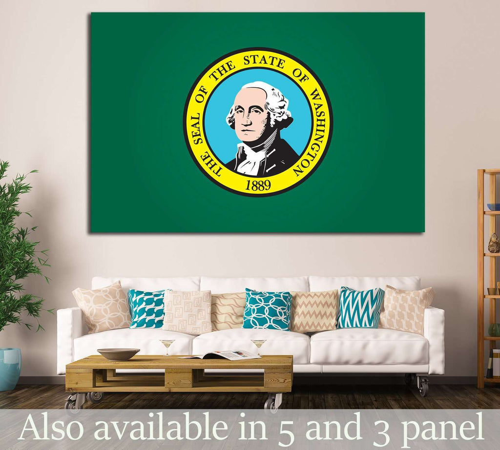 washington Flag №691 Canvas Print