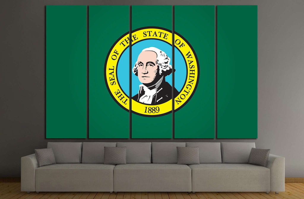 washington Flag №691 Ready to Hang Canvas Print