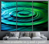 Water ripples №1080 Ready to Hang Canvas Print