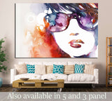 watercolor beauty portrait №731 Ready to Hang Canvas Print