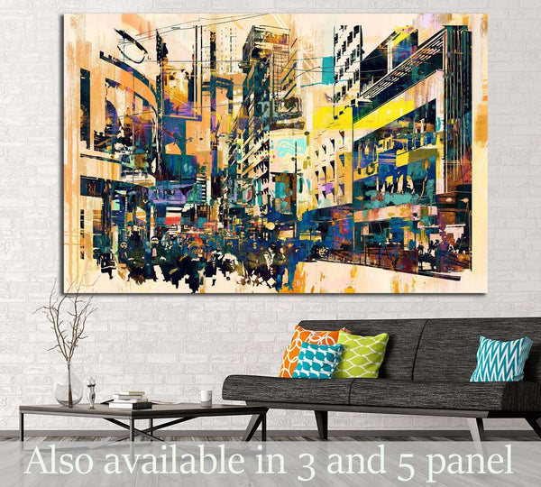 Watercolor City №723 Ready to Hang Canvas Print
