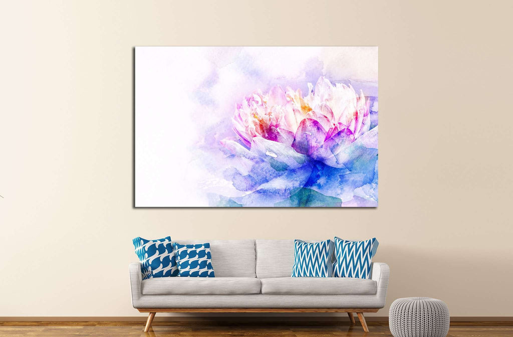 Watercolor painting №1068 Ready to Hang Canvas Print