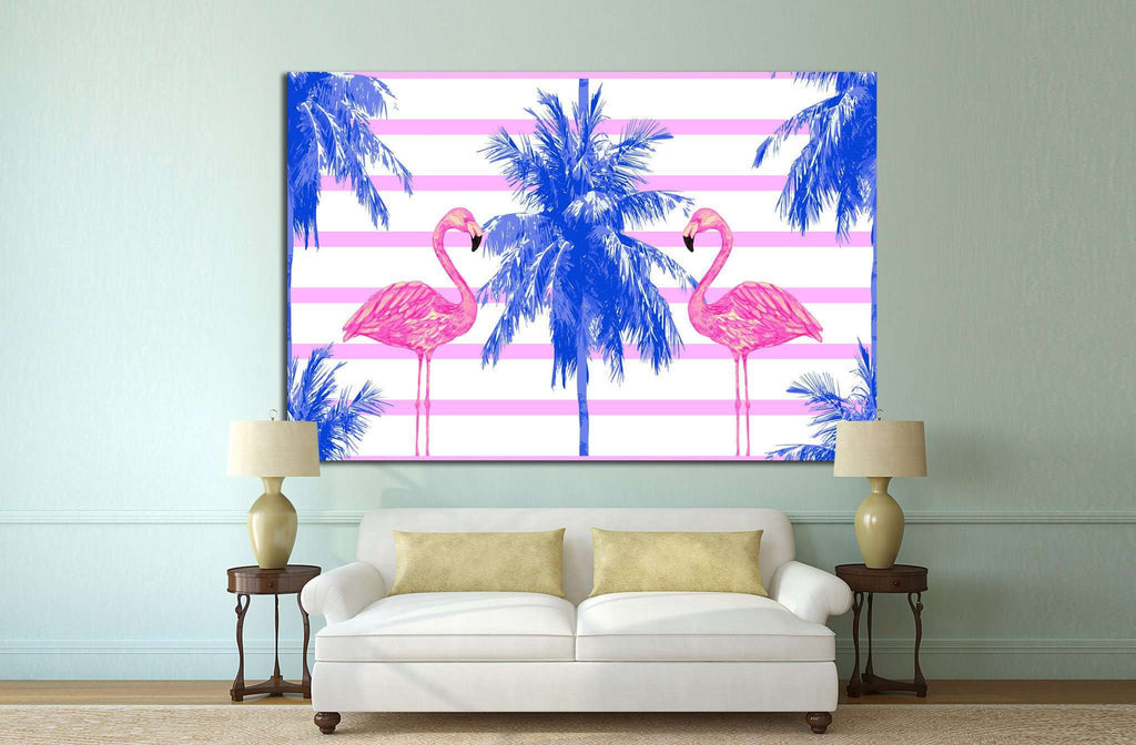 watercolor pink flamingos №708 Ready to Hang Canvas Print