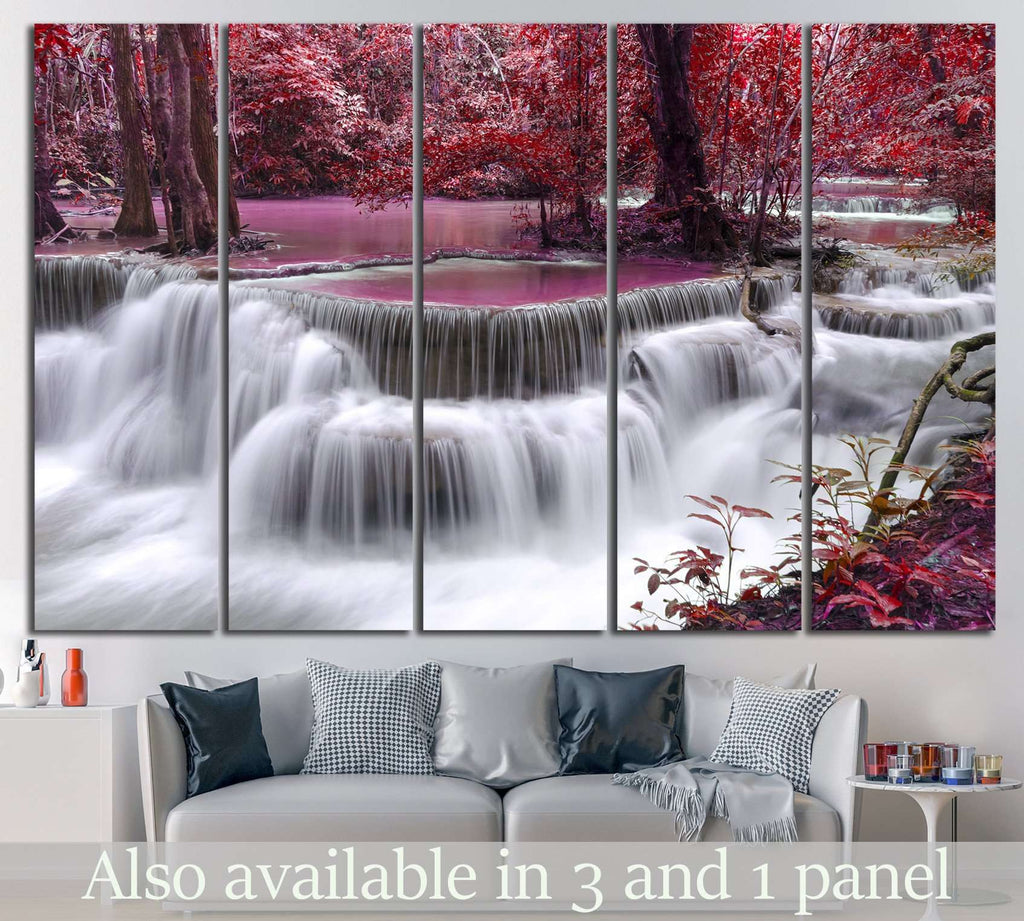 Waterfall, Thailand №609 Ready to Hang Canvas Print