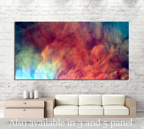 Waves breaking in the stellar Lagoon Nebula or emission nebula Messier №2558 Ready to Hang Canvas Print