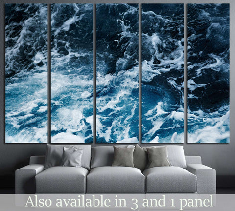 Waves in ocean Splashing Waves №1402 Ready to Hang Canvas Print
