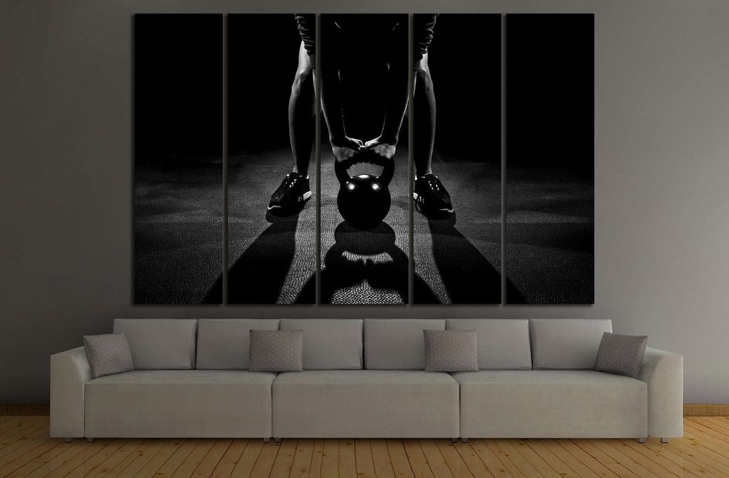 Weightlifting №204 Ready to Hang Canvas Print