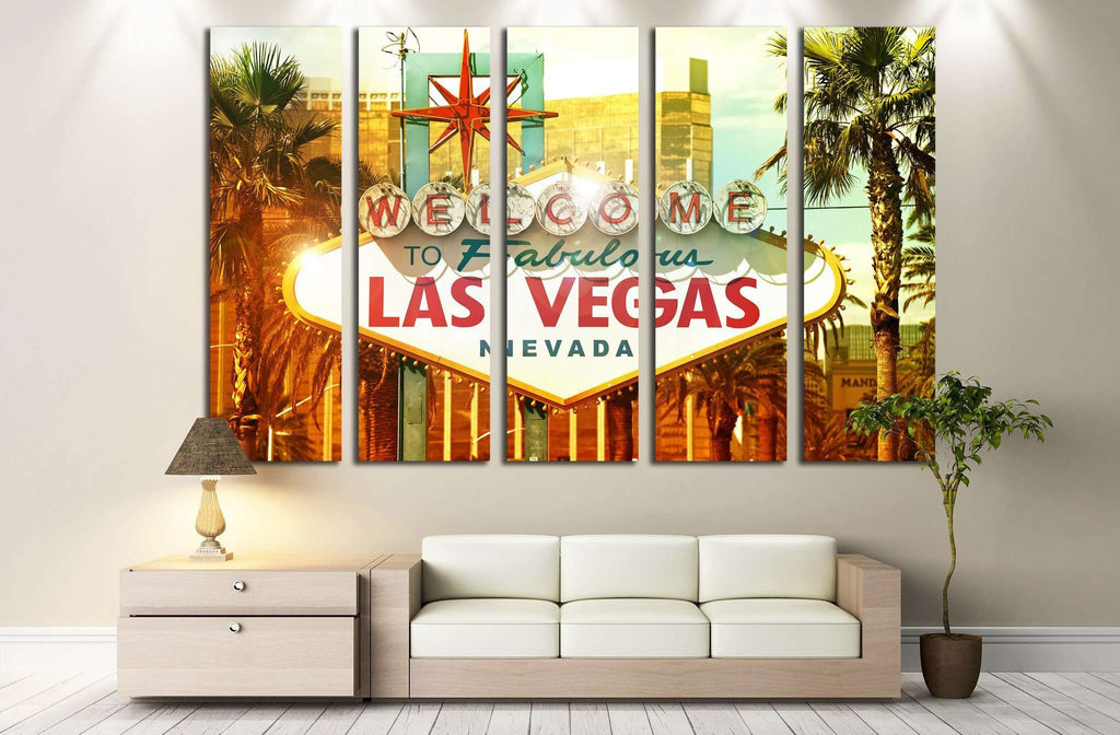 Welcome to Las Vegas №544 Ready to Hang Canvas Print