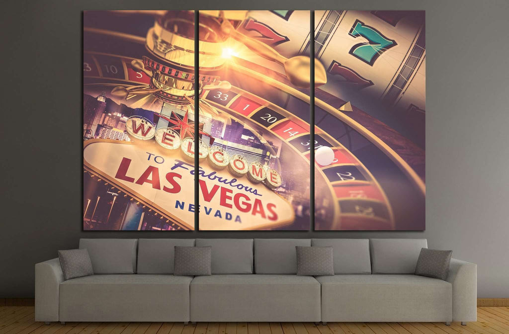 welcome to las vegas sign №727 Ready to Hang Canvas Print