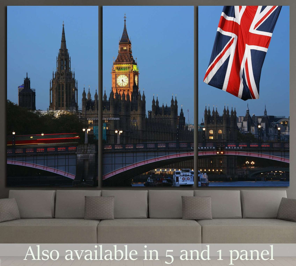 Westminster Palace, London №794 Ready to Hang Canvas Print