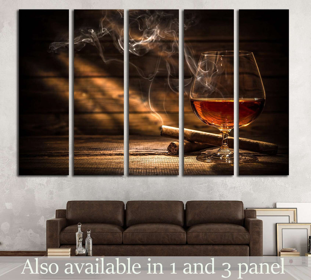 Whiskey and Cigar №533 Ready to Hang Canvas Print