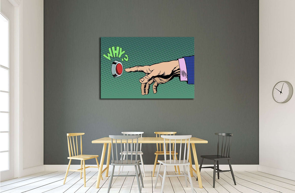 Why Pop Art №3317 Ready to Hang Canvas Print