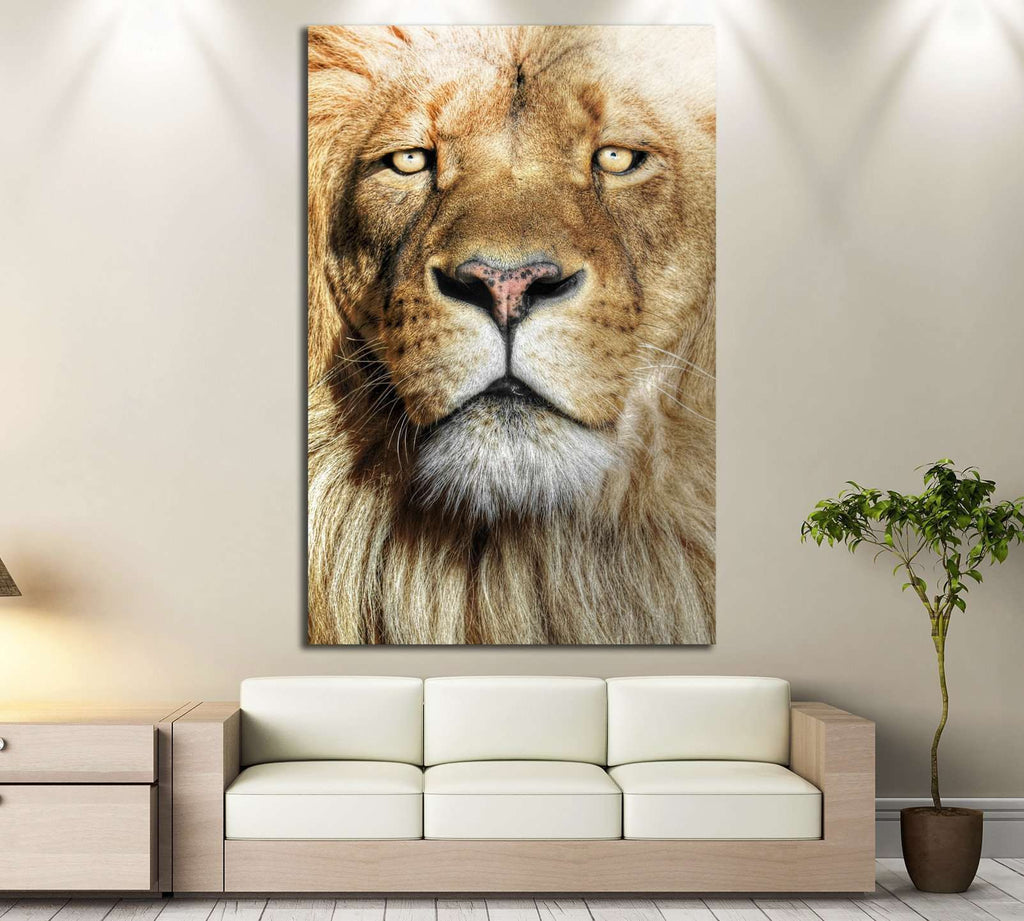 Wild Lion №190 Ready to Hang Canvas Print