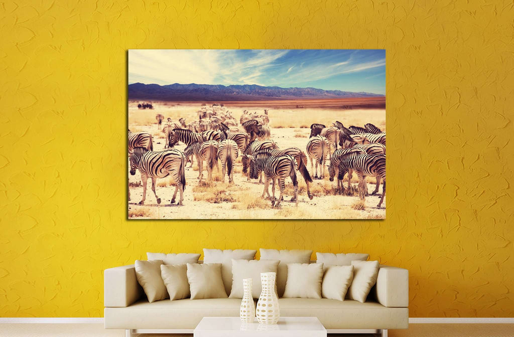 Wild zebra №1848 Ready to Hang Canvas Print