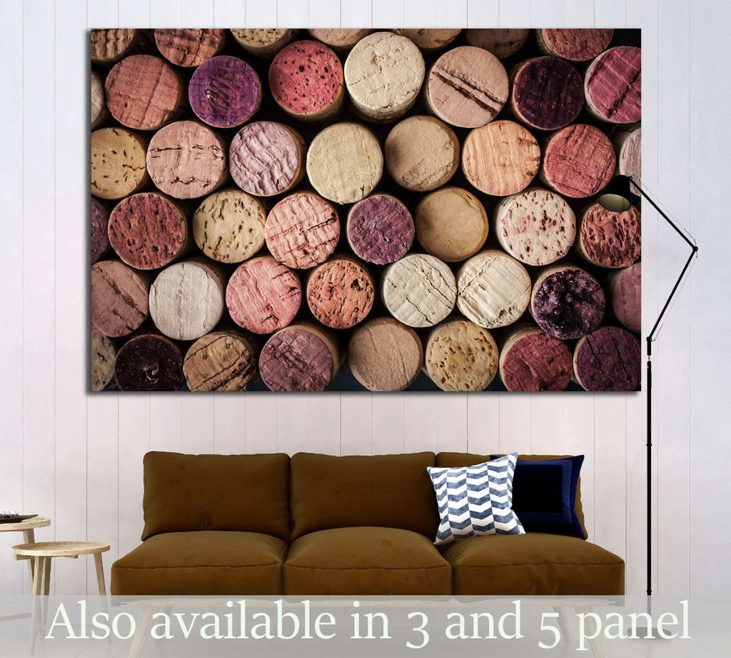 Wine corks background horizontal №1918 Ready to Hang Canvas Print