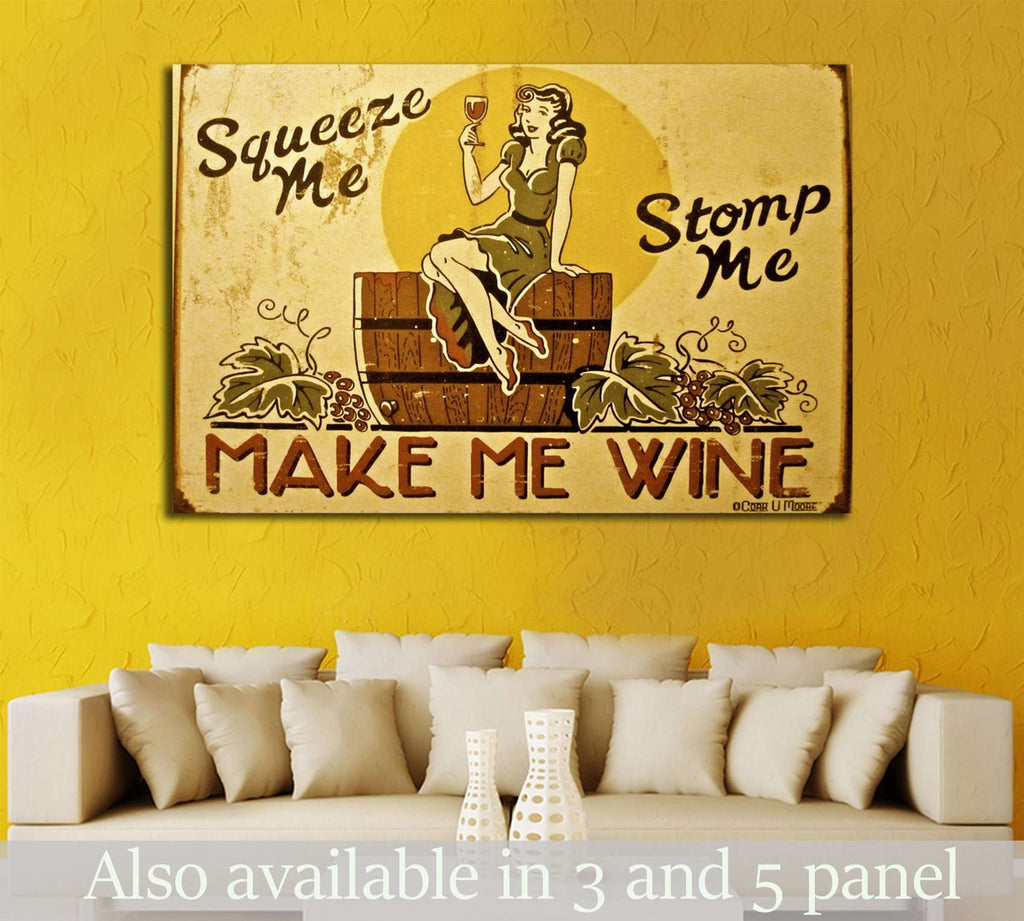 Wine №3414 Ready to Hang Canvas Print Canvas Print | Zellart Canvas Arts