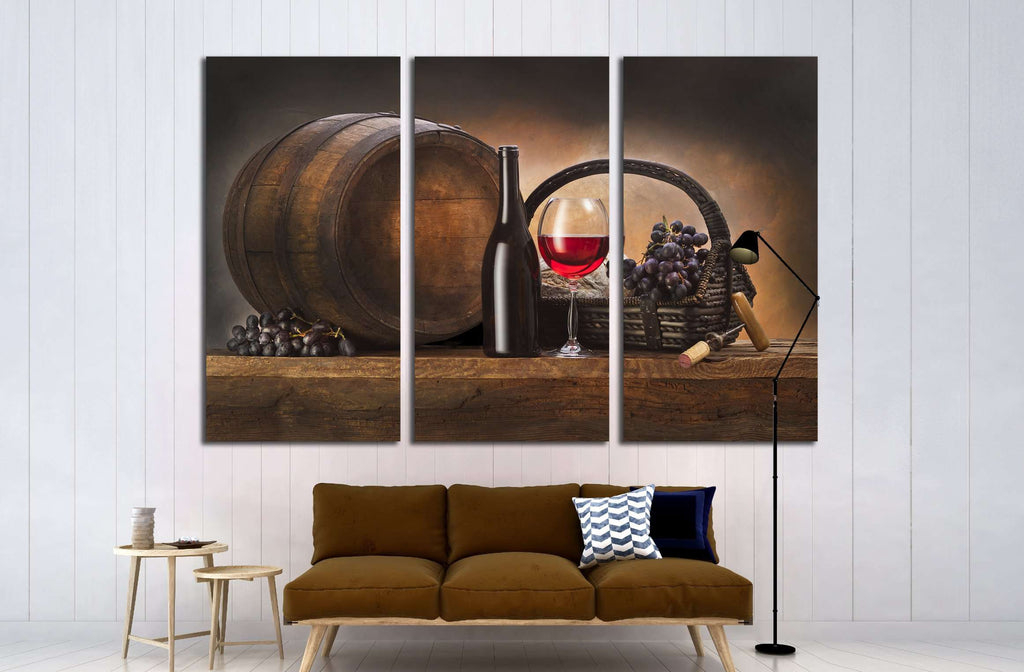 Wine №3438 Ready to Hang Canvas Print