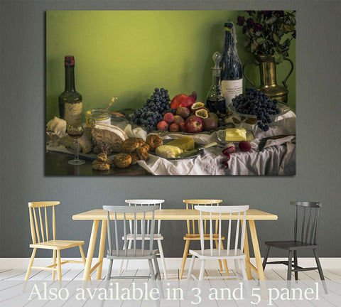 Wine №3442 Ready to Hang Canvas Print