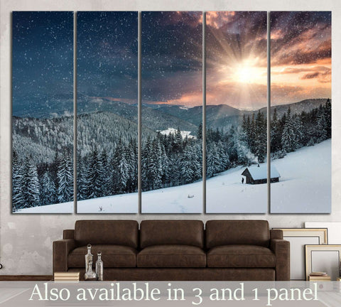 Winter evening №603 Ready to Hang Canvas Print