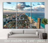Wonderful skyline of Miami at sunset №1219 Ready to Hang Canvas Print