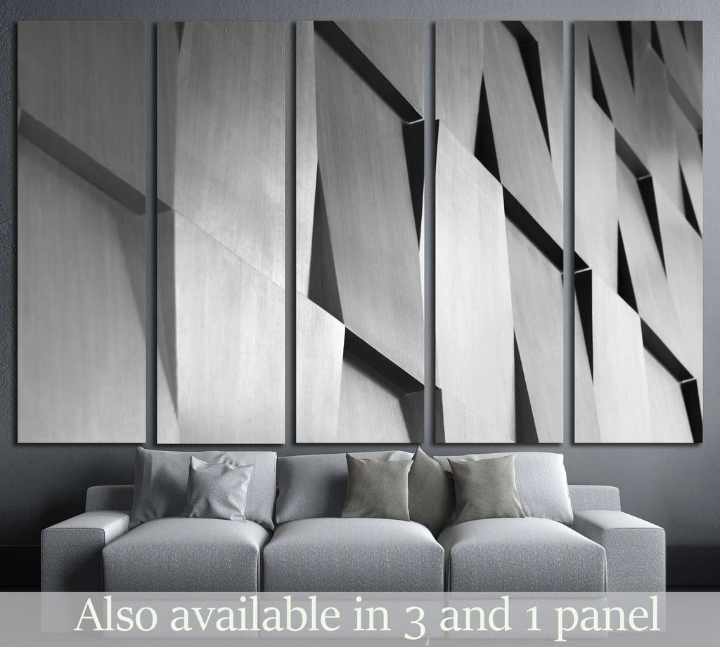 Wood wall geometry decoration background №1598 Ready to Hang Canvas Print