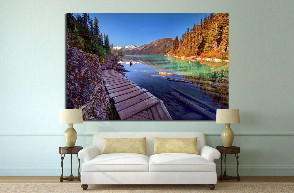 Wooden walkway №848 Ready to Hang Canvas Print