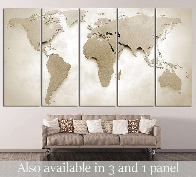 World Map №10000 Ready to Hang Canvas Print