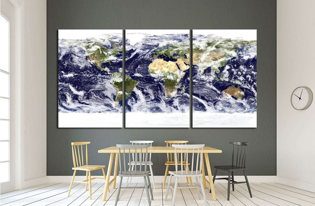 World Map №1500 Ready to Hang Canvas Print