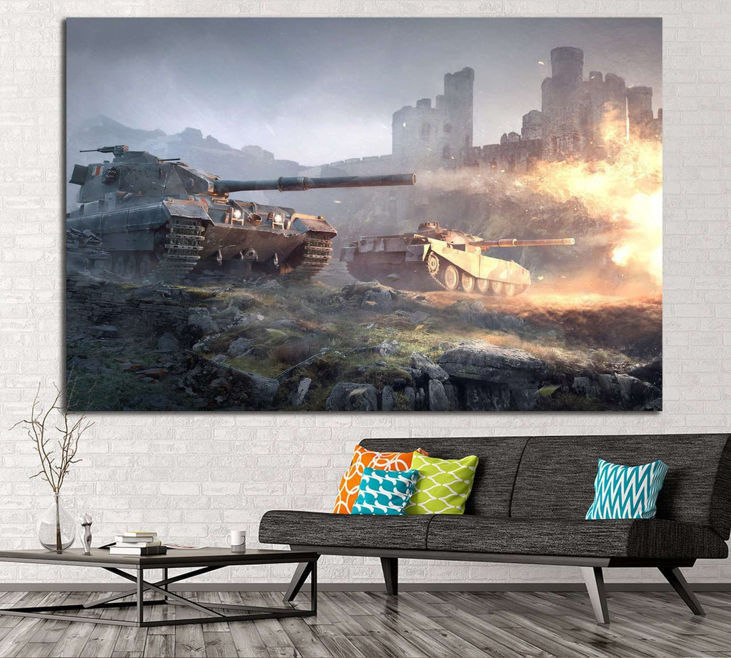 TANK CANVAS ART №226 Ready to Hang Canvas Print