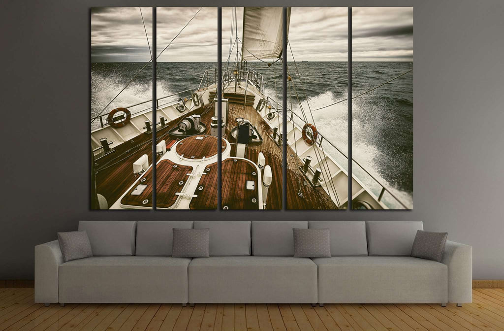 Yacht Wall Art №207 Ready to Hang Canvas Print