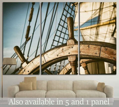 Yacht Wheel №214 Ready to Hang Canvas Print