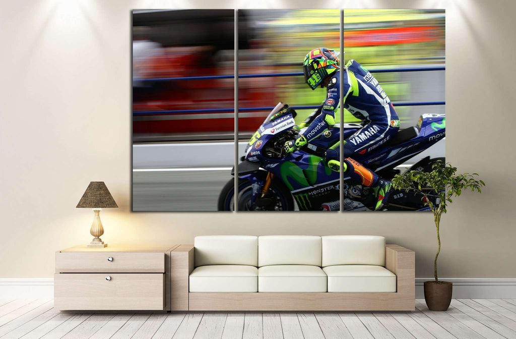 Yamaha YZR-M1 №158 Ready to Hang Canvas Print