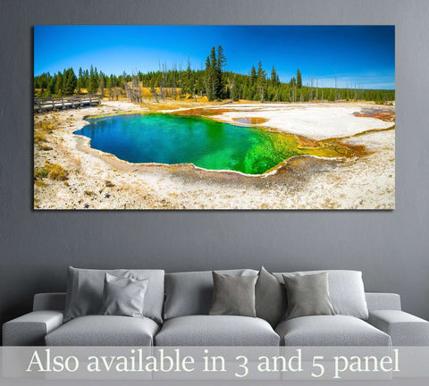 Yellowstone National Park, Wyoming. Prismatic spring. Abyss Pool at West Thumb №1982 Ready to Hang Canvas Print